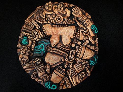 Mayan Wall Plaque Mask Head Maya Aztec Mexico Mexican Inca Pottery Art Calendar 046 ()