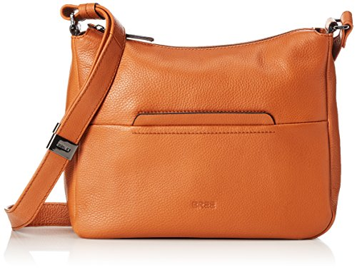 Bree Collection - Faro 2, New Elephant, Cross Shoul. M W15, Borsa A Tracolla da donna Braun (Saddle Brown)