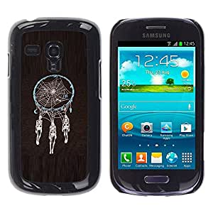 Carcasa Funda Prima Delgada SLIM Casa Case Bandera Cover Shell para Samsung Galaxy S3 MINI NOT REGULAR! I8190 I8190N / Business Style Dream Catcher Death Skull Indian Spider