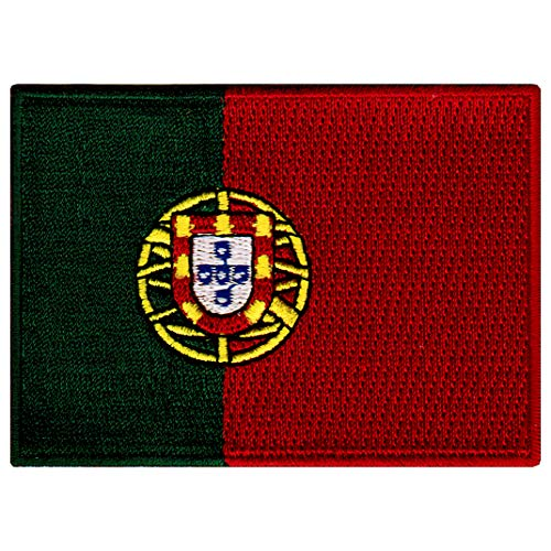 Portugal Flag Embroidered Patch Portuguese Iron-On National Emblem