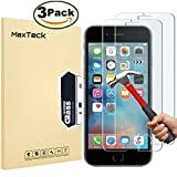 [3 Pack] iPhone 6 6S Screen protector, MaxTeck 0.26mm 9H Tempered Shatterproof Glass Screen Protector Anti-Shatter Film for iPhone 6 6S 4.7' inch [3D Touch Compatible]