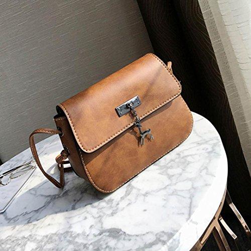 décontracté Sac Bag Messenger Sac pour bandoulière Café cuir à Vintage main ESAILQ en à Sac main sac pour Small cerf femme à RcYqWdwp