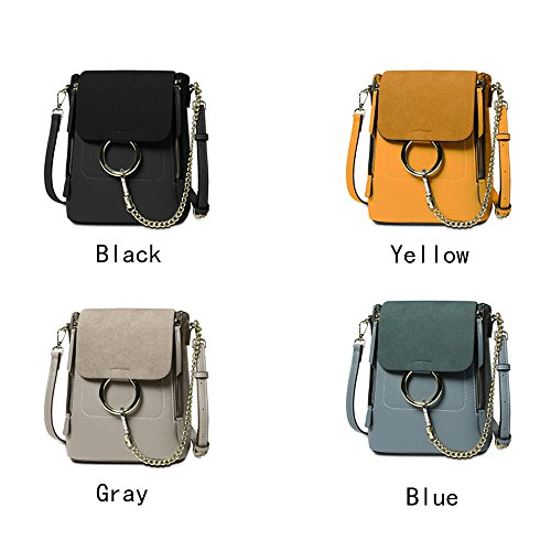 Backpack gray Mini for Leather Chain Backpack Designer Shoulder Women Fashion Dark Olyphy Bag qwvSpHn4