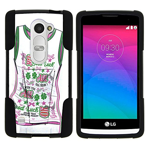 LG Power, Full Body STRIKE Impact Kickstand Case with Exclusive Illustrations for Leon LTE C40, Risio H343, Tribute 2 LS665, Destiny L21G, Sunset L33L by MINITURTLE - I Wish You All Good Luck Jersey - Exclusive Print Jersey