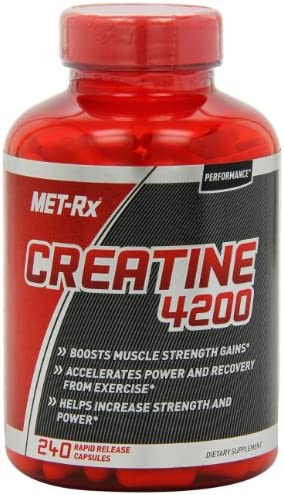 MET-Rx Creatine 4200 Supplement, Supports Muscles Pre and Post Workout, 240 Capsules 6