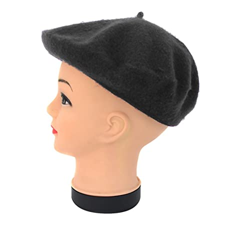 89423eccf02 Amazon.com  Kaisa Lily Black Wool French Beret Hat for Women and Girls   Home   Kitchen