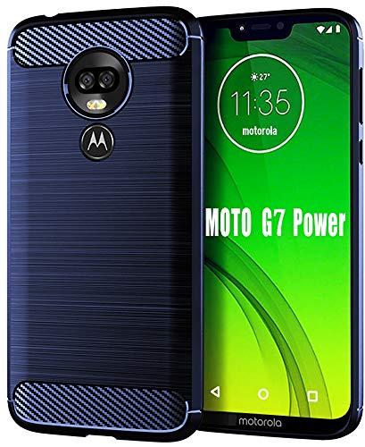 Moto G7 Power Case, HNHYGETE Soft Slim Shockproof Anti-Fingerprint Full Protective Phone Cases for Motorola Moto G7 Power (Blue) from HNHYGETE
