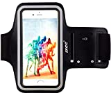 iXCC Racer Series Sport Gym Armband with Scratch-Resistant Dual Arm-Size Slots and Key Pocket for iPhone 6, 6s, 5s, 5, 5c, SE, iPod MP3 Player - Black