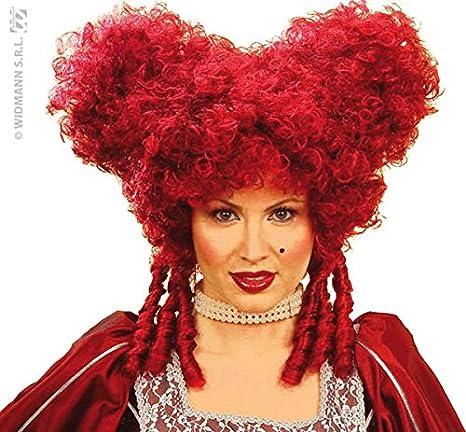 Ladies Baroque Noblewoman Burgundy Wig for Hair Accessory Fancy Dress