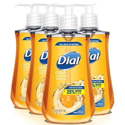 Dial Antibacterial Liquid Hand Soap, Gold, 9.375 Ounce (Count of 4) (Gel Hand Moisturizing Antibacterial)