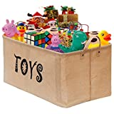 """Gimars X-Large 22"""" Well Holding Shape Multipurpose Toy Chest Baskets Storage Bins Organizer - Perfect for Organizing Kids & Children Toys, Dog Toys, Blankets, Clothes - Perfect for Playroom & Shelves"""