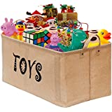 """Gimars Easy Carrying 22x15"""" Well Standing Toy Chest Baskets Storage Bins for Dog Toys, Kids & Children Toys, Blankets, Clothes - Perfect for Playroom & Living Room"""