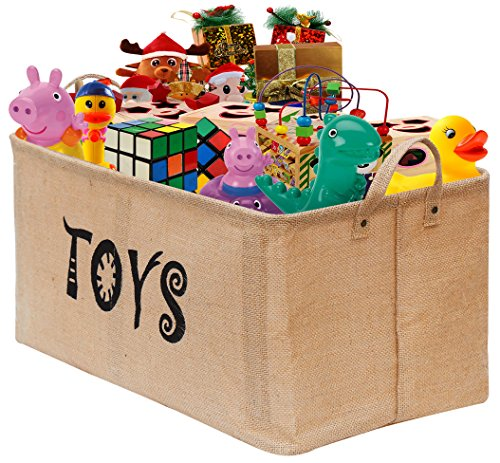 Toy Chest Bin Box Organizer Storage Kids Room Playroom Shelv