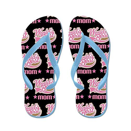 Cafepress Mom (s Werelds Beste) Flip Flops - Flip Flops, Grappige String Sandalen, Strand Sandalen Caribbean Blue
