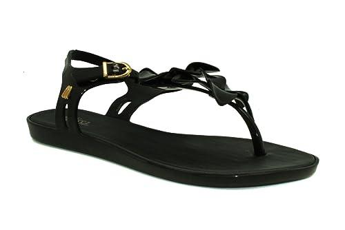 Boucle En Plastique Hawaii Solaires Des Femmes Melissa Sandale Noir-noir-4 Taille 4 NlpIClrrz
