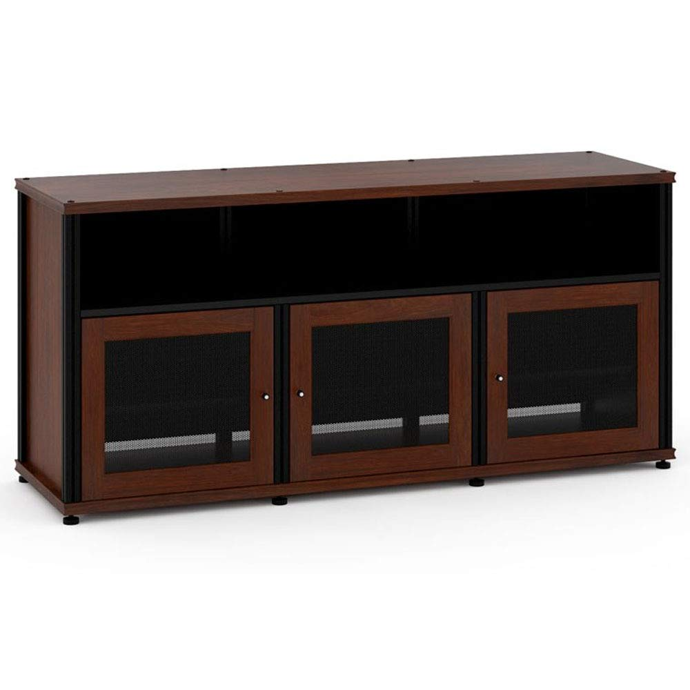 Salamander Designs Synergy Triple Wide A/V Cabinet with Doors and a Center Channel Opening by Salamander Designs