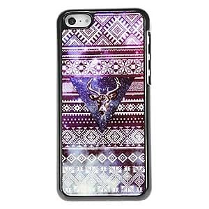 GONGXI-Estilo étnico Moosehead Patrón Hard Case para el iPhone aluminoso 5C