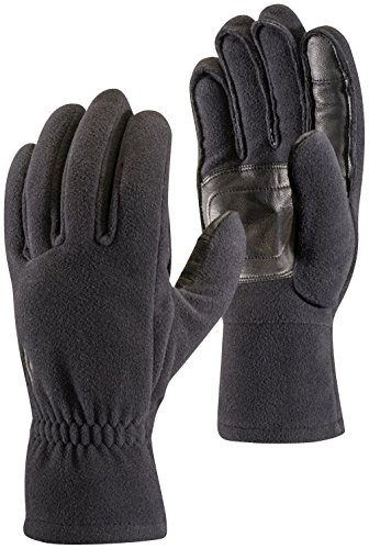 (Black Diamond Midweight Windbloc Fleece Ski Glove - Black Small)