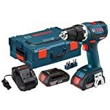 Bosch DDS182-02L 18-volt Brushless 1/2-Inch Compact Tough Drill/Driver with 2.0Ah Batteries, Charger and L-Boxx-2