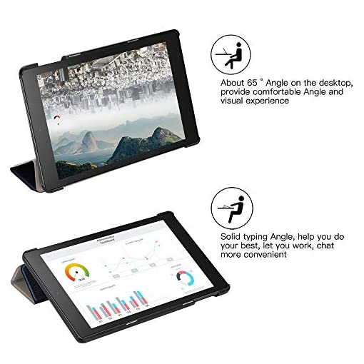 DDJ Fire HD 8 Case,Light Slim Folding Stand with Auto Wake/Sleep Protective Cover Case for Fire HD 8 Tablet 8 Inch (2018/2017 Release,8th/7th Generation) (Blue)