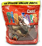 Cadet 00867 12 pack Pig Ears All Natural Dog Treat - Quantity 6 bags