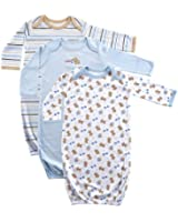 Luvable Friends Baby Boys' 3 Pack Gowns
