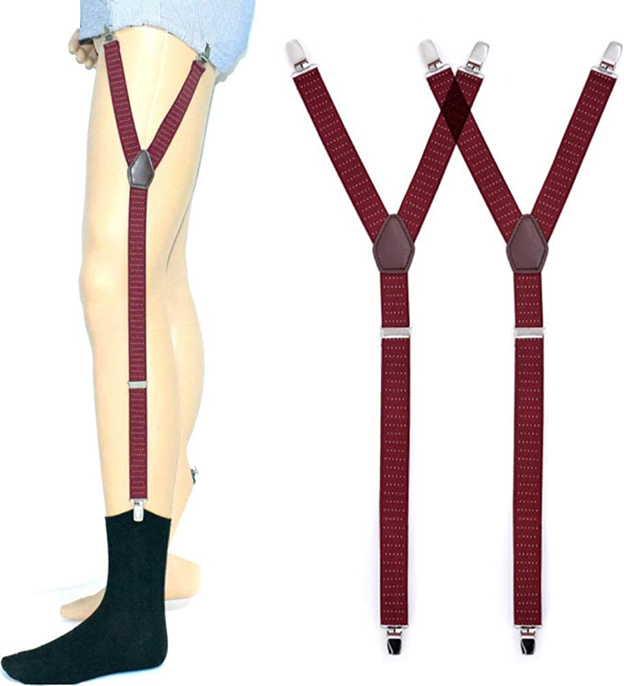 Pejoye Y-Stil Hemdhalter 1 Paar Schwarz Elastischer und Rutschfester Hemd Halter Shirt Stays H/ält das Hemd Einheitsgr/ö/ße f/ür Lehrerverk/äufer oder Polizist EINWEG