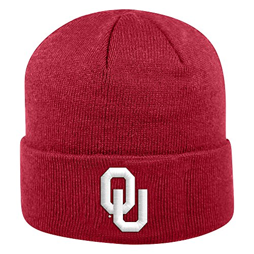 Top of the World Oklahoma Sooners Men's Winter Knit Hat Icon, Cardinal, One Fit
