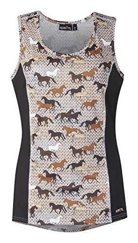 West Side Original Clothing (Kerrits Breeze Ice Fil Tank Graphite Field Of Horses Size: 1X)