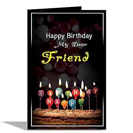 Alwaysgift Happy Birthday My Dear Friend Greeting Card