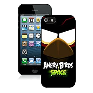 Fashionable and Grace Case Angry Birds Space Angry Birds Bird Logo Black Black Case for iphone 5 5s 5th