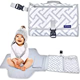 Crib with Detachable Changing Table Portable Changing Pad by Lil Darlings - Travel Friendly Portable Changing Station with Storage and Detachable Mat - Ideal for Baby Showers - Extra Sponge Inner and Pillow for a Convenient Clean Change
