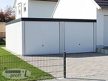 Fertiggarage doppelgarage  profi+L Doppelgarage Fertiggarage ca. 5,8m x 6m profiliert verputzt ...