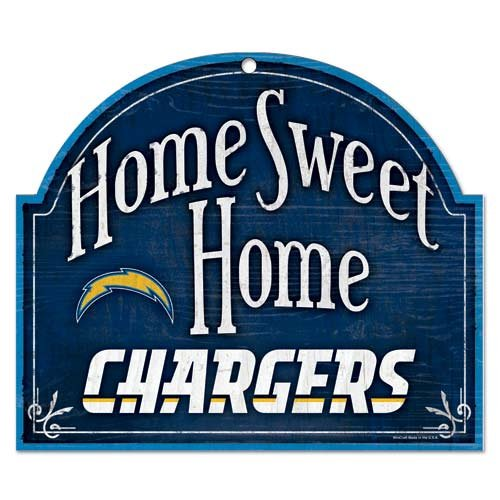 Wincraft NFL San Diego Chargers Wood Arched Sign, 10 x 11, Black