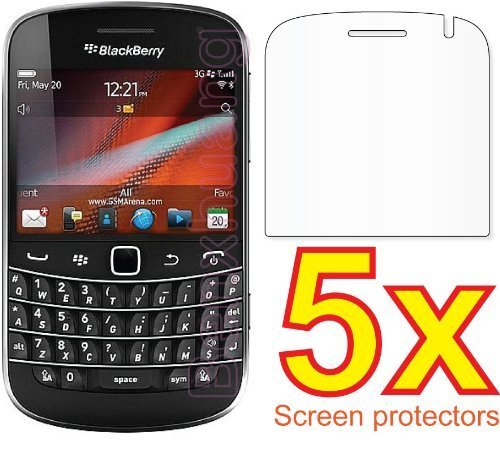 eTECH Collection 5 Pack of Crystal Clear Screen Protectors for BlackBerry Bold 9900 - from USA (9900 Protector Screen)