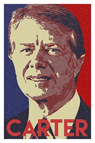 President Jimmy Carter Pop Art Portrait Poster 12x18 inch