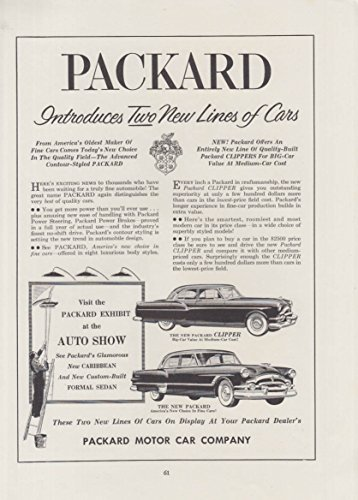 Packard Introduces Two New Lines - Clipper & Packard for sale  Delivered anywhere in USA