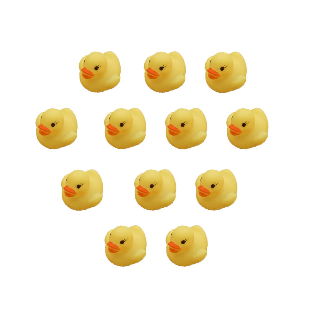 Ogquaton Mini Canards Jaunes Canards de Bain Canards en Caoutchouc Canards Bathtime Toys Parfait pour la Baignoire ou la pataugeoire Jaune