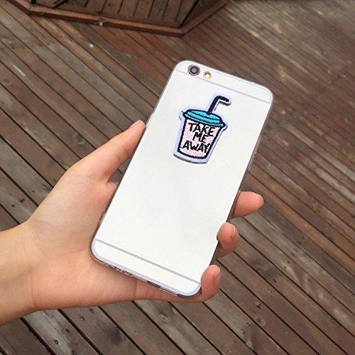 GHC Cases & Covers, Für iPhone 6 Plus & 6s Plus, Spiegel Stickerei Trinkflasche Vollständige Abdeckung Shockproof schützende rückseitige Abdeckungs-Fall