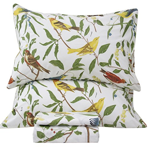 Queen's House Cottage Birds Bed Sheet Sets California King Size-D ()