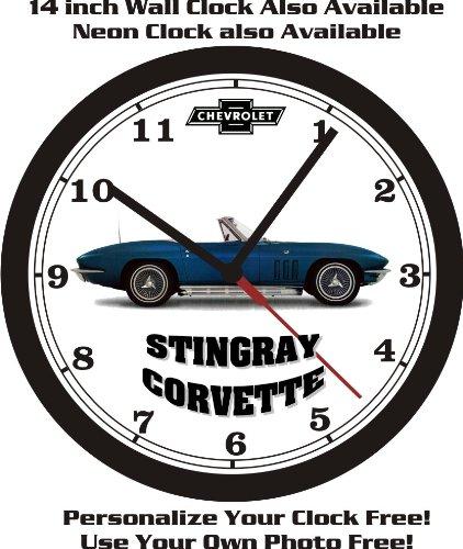 1965-66-67 CHEVROLET STINGRAY CORVETTE WALL CLOCK-FREE USA SHIP!