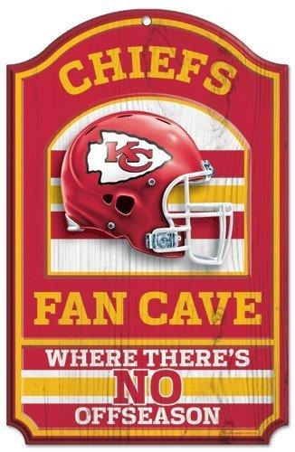 (WinCraft NFL Kansas City Chiefs 05490010 Wood Sign, 11