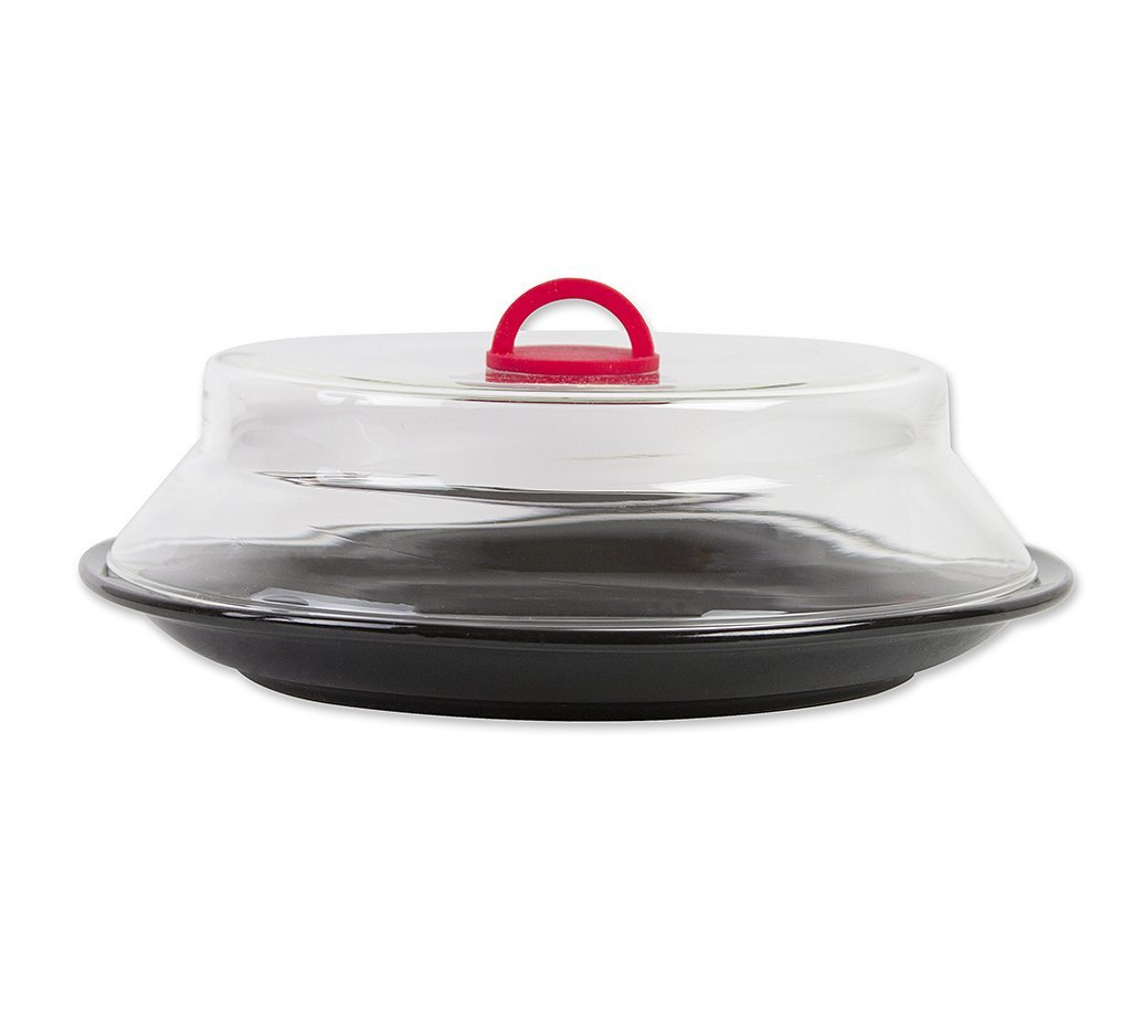 Catamount CG1301-R Catamount Glass Microwave Plate Cover, 10.5'', Red