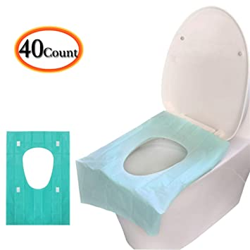 30 Counts Travel Set Waterproof Individually Wrapped Portable Travel Toilet Seat Covers for Adults Kids Toddler Potty Training Public Toilet Cruise Plane Train Disposable Toilet Seat Covers 3 Packs