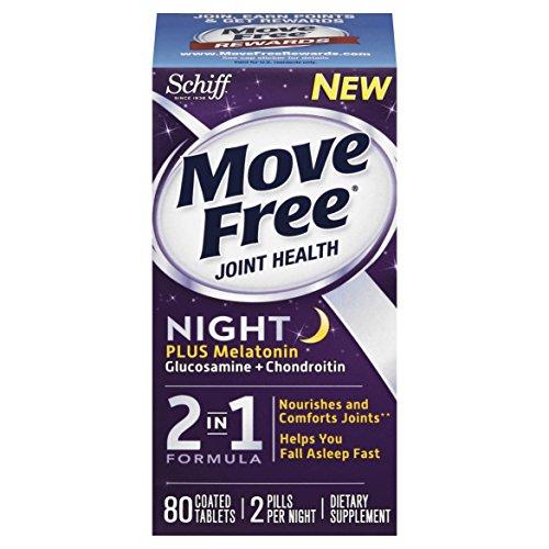 Nuit gratuite Glucosamine chondroitine et conjointe supplément de mélatonine, 80 décompte