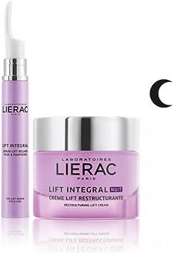 Lierac - Estuche Lift Integral Crema Noche Reestructurante + Sérum Ojos Palpebre: Amazon.es: Salud y cuidado personal