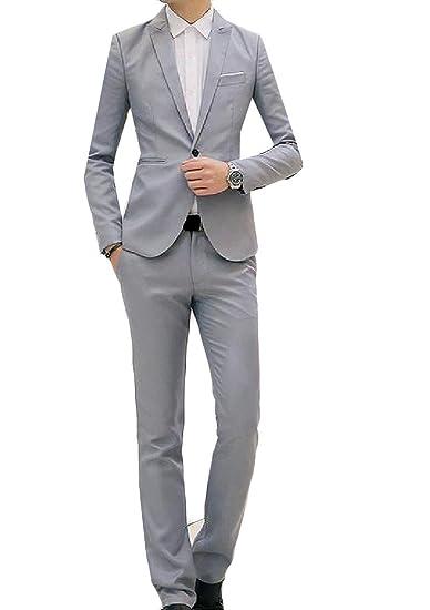 Pivaconis Conjunto De Traje Y Pantalones De Vestir Para Hombre 2 Piezas Un Botón