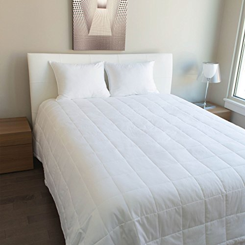 Luxury Cotton - All Season Down Alternative Blanket White Plain , In 300 Tc Egyptian Cotton Available In Queen / Full /King / Twin Sizes (Queen (88x90) inch)
