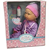 INTERACTIVE BABY DOLL - Makes Breathing Sounds, Sucks on Her Bottle or Pacifier, Her Face Moves Just Like a Real Baby, Giggles and Makes Sound when She is Held