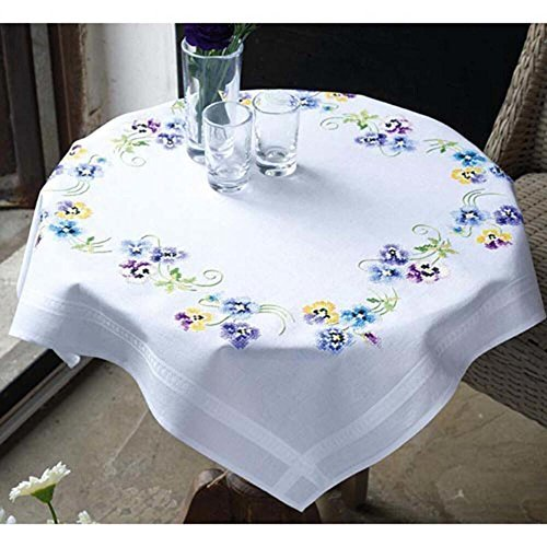 (Pretty Pansies - Tablecloth - Cross stitch kit)